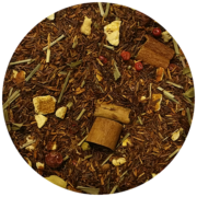 rooibos čaj, naranča, limunova trava, cimet, aroma, crveni papar, kardamon, smrznuto sušeni ribizl
