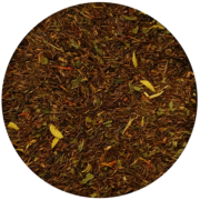 rooibos čaj, komadići naranče, zelena menta, aroma, cvjetovi naranče, šafran, grejpfrut