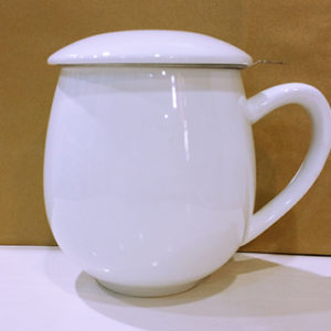 šalica, čaj, procjedilo, porculan